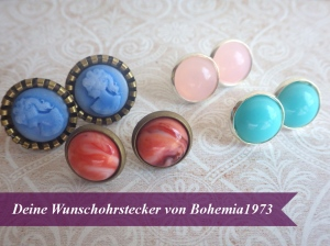 Cabochon Ohrstecker